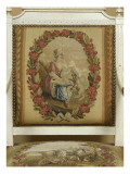 Armchair Louis Xvi Style: Girl with the Dog and Goat Giclee Print