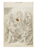 Apparition de la Vierge à de nombreux personnages Giclée-tryk af Francesco Solimena