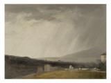 Ciel à la Villa Borghèse : temps de pluie Giclée-Druck von Pierre Henri de Valenciennes
