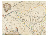 Carte du B&#233;arn Reproduction proc&#233;d&#233; gicl&#233;e