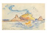 Carnet : Vue de l'île Rousse Gicleetryck av Paul Signac