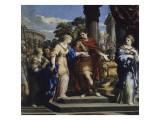 César remet Cléopâtre sur le trône d'Egypte Giclee Print by de Cortone Pierre