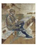 """Louis Bouglé, ami de l'artiste, cycliste sous le nom de Spoke, directeur de la """"chaîne Simpson"""" Lámina giclée por Henri de Toulouse-Lautrec"""