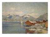 Maisons de pêcheurs à Svolvoer, Lofoden (Norvège) Giclee Print by Johannes Martin Grimelund