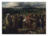 Com&#233;diens ou bouffons arabes Giclee Print by Eugene Delacroix