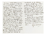 Lettre autographe sign&#233;e &#224; Berryer, 28 Avril 1862 Giclee Print by Eugene Delacroix