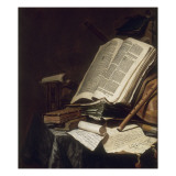 Livres et instrument de musique Giclée-Druck von Jan Cornelisz Vermeulen