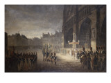 Blessing of the Flags on the Front of Notre Dame 1810 Giclee Print