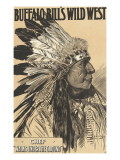 "Buffalo Bill's West, Chief ""Walks"" under the Ground "" Giclee Print"