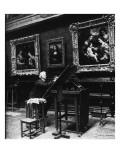 """Au Salon carré du Louvre : """"la Joconde"""" Giclée-Druck von François Vizzavona"""