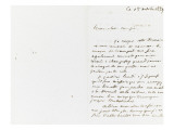 Autograph Letter Signed to Berryer, October 15, 1859 Giclee Print by Eugene Delacroix