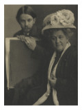 Camera Work Oct. 1910 : Alvin Langdon Coburn and his mother Giclee Print by Clarence White