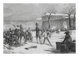 Children of Napoleon. Battle of Snowballs at Brienne Giclee Print