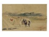 Campement au Maroc entre Tanger et Meknès Giclee Print by Eugene Delacroix