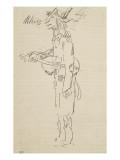 Caricature, violoniste, profil gauche Giclée-Druck von Pierre Puvis de Chavannes