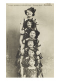 Cirque Ancillotti-Plegia. Troop Asti. Acrobats (1912) Giclee Print