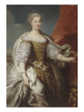 Catherine Bnin-Opalinska, épouse de Stanislas Lescszinki  (1680-1747) Giclée-Druck von Jean Baptiste Van Loo