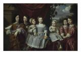 Les enfants de Habert de Montmor Giclee Print by Philippe De Champaigne