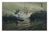 Lionel Walden - Les docks de Cardiff Digitálně vytištěná reprodukce