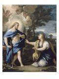 Le Christ apparaissant à la Madeleine Lámina giclée por Luca Giordano