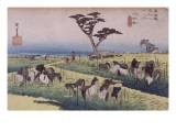 Chiryû, la foire estivale aux chevaux Giclee Print by Ando Hiroshige