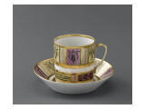 Chocolate Cup and Saucer Decorated with Arabesques Giclee Print