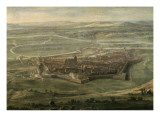 Prise de la ville de Dle en Franche-Comt par Louis XIV, le 6 juin 1674 Gicle-tryk af Jean Paul
