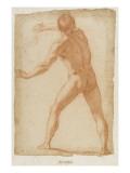 Hommme nu, debout, vu de dos, tenant un fouet Giclee Print by Matteo Rosselli