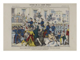 Check Guard Mobile Station in Strasbourg, August 1870 Giclee Print
