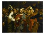 Le Christ et la femme adultère Giclee Print by Lorenzo Lotto