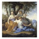 Clio, Euterpe et Thalie Giclee Print by Eustache Le Sueur