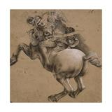Cavalier, étude d'après la Bataille d'Anghiari Giclée-Druck von Léonard de Vinci