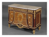 Commode  (plac&#233;e dans le Cabinet int&#233;rieur de la Reine (cabinet dor&#233;) Giclee Print by Jean-Henri Riesener