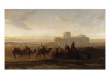 La Caravane Giclee Print by Alexandre Gabriel Decamps