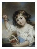 Petite fille aux cerises Giclée-Druck von John Russell