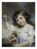 Petite fille aux cerises Giclee Print by John Russell