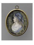 Charlotte-Louise-Dorothée de Rohan-Rochefort (1767-1814), en buste Gicleetryck