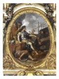 Ceiling of the Hall of Mirrors: Restoring Navigation Giclee Print by Charles Le Brun