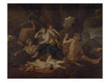 L'enfance de Bacchus Lmina gicle por Nicolas Poussin