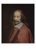 Le cardinal Mazarin Reproduction proc&#233;d&#233; gicl&#233;e par Pierre Mignard