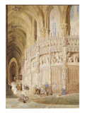 Intérieur de la cathédrale de Chartres Giclee Print by James Roberts
