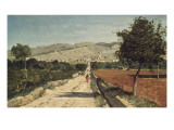 Landscape of Provence. View of Saint-Saturnin-Les-Apt Giclee Print by Paul Camille Guigou