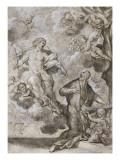 Jésus dictant à saint Ignace de Loyola les règles de la compagnie de Jésus Giclee Print by Giovanni Francesco Romanelli