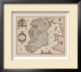 Hibernia Regnum Vulgo Ireland Limited Edition Framed Print by J. Jansson