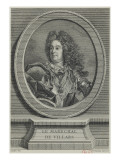 Louis-Claude-Hector, mar&#233;chal-duc de Villars (1652-1733) - repr&#233;sent&#233; en 1704 Gicl&#233;e-Druck von Vincenzio Vangelisti