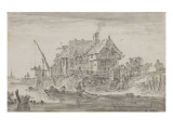 Auberge au bord de l'eau Giclée-Druck von Jan Van Goyen