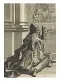 Madame De Maintenon (1635-1719), Kneeling on a Tile Giclee Print