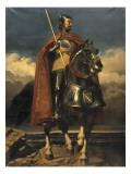 Louis de Champagne, comte de Sancerre, maréchal de France en 1368, connétable en 1397 (-1402) Gicleetryck av Jules Claude Ziegler