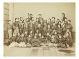 Léon Dury et ses élèves japonais Giclee Print