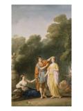 Amant couronnant sa maîtresse Giclée-Druck von Joseph Marie Vien